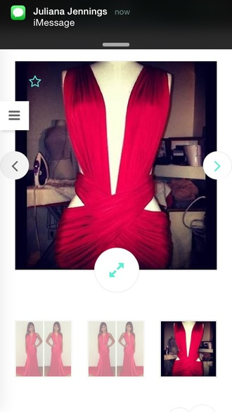 dress deep v neck dress red dress prom dress long dress