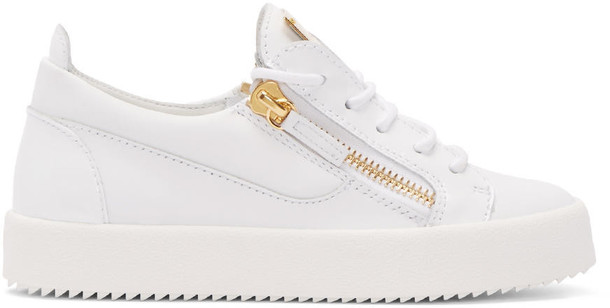 Giuseppe Zanotti london sneakers leather white shoes