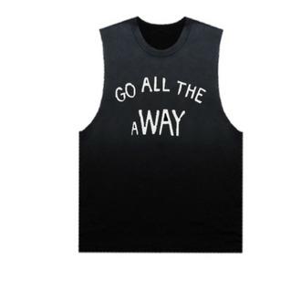 top black punk funny summer vest tank top