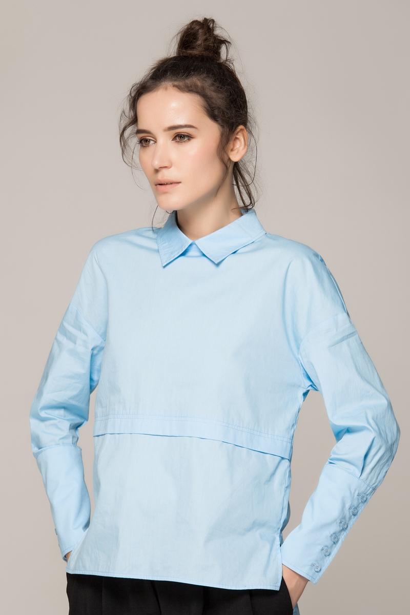 Blue pullover shirt