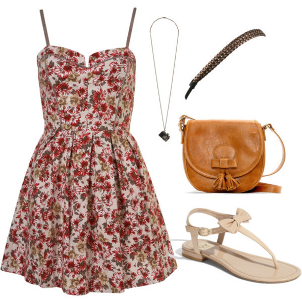 dress shoes bag floral dress