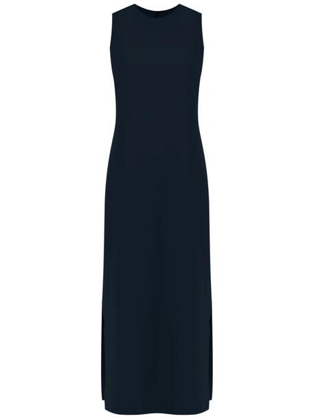 dress sleeveless women blue