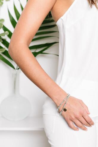 jewels tess and tricia wrap bracelet beaded bracelets double wrap gold charm handcrafted bikiniluxe