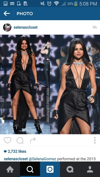 dress selena gomez black dress