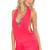 Luli Fama Coral T-Back Mini Dress