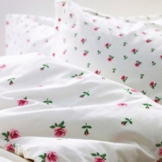 home accessory bedding rosebud floral pink rose girly