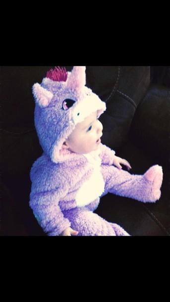 59b12cf9c pajamas, baby, unicorn, pink, cute, toddler, onesie - Wheretoget