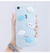 phone cover,girly,iphone cover,iphone case,iphone,clouds,blue
