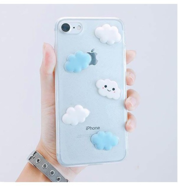 phone cover girly iphone cover iphone case iphone clouds blue