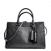 Coach :: LEGACY PINNACLE LEIGHTON FRAME CARRYALL IN EMBOSSED OSTRICH LEATHER