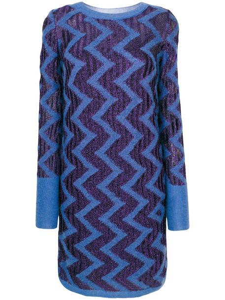 Missoni dress women blue pattern