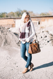 wild one forever - fashion & style by kristin,blogger,dress,scarf,sweater,jeans,shoes,bag,fall outfits,brown bag,skinny jeans,booties