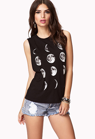Moon Cycle Muscle Tee | FOREVER 21 - 2054932981