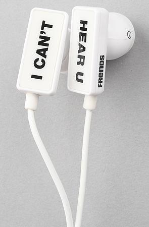 Frends headphones headphones clip i can't hear u in white