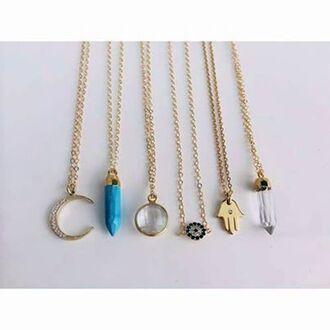diamonds grunge cute jewels blue soft grunge vintage collar collars moon hamnsas eye where did u get that