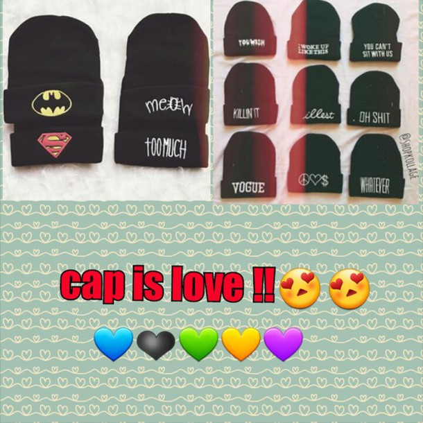 hat cap love