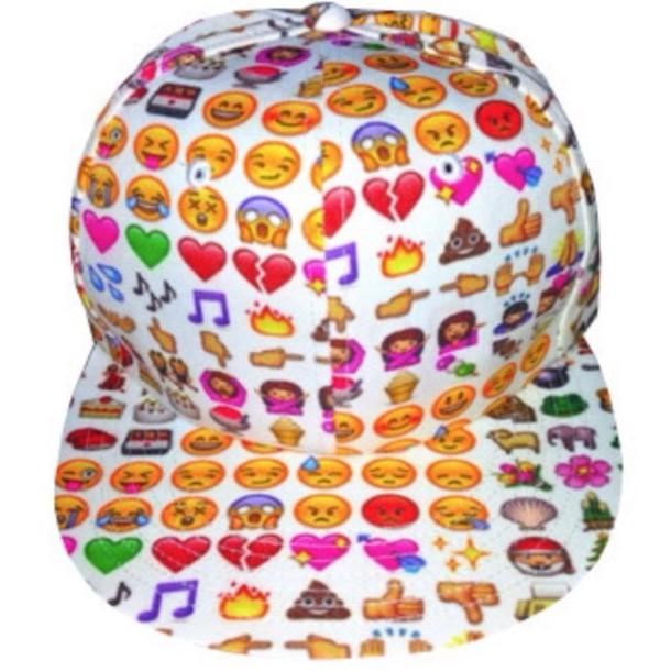 hat emoji print