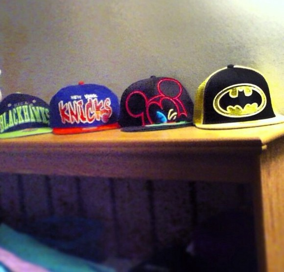 batman hat knicks mickey mouse