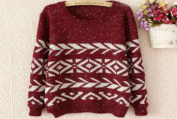 sweater burgundy sweater fashion fall outfits christmas sweater winter/autumn fall sweater red