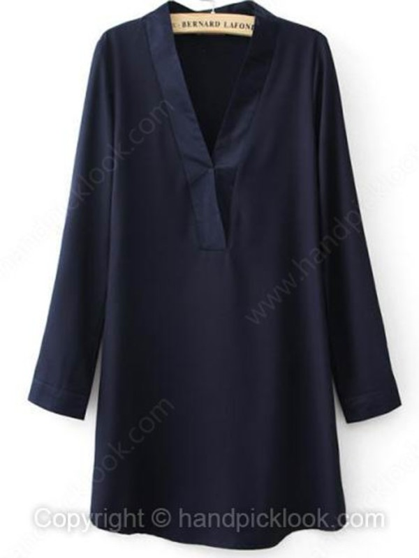 navy dress long sleeve dress woman dress dress