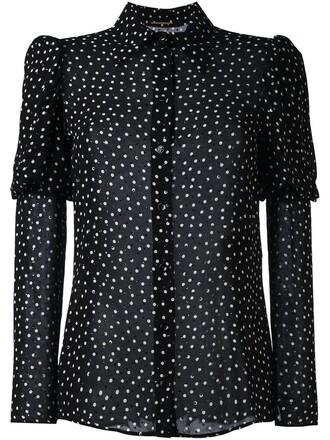 shirt print black top