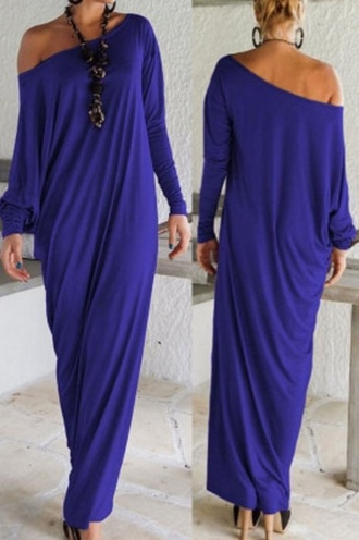 dress elegant jersey wots-hot-right-now maxi dress athena comfy casual blue celebrity style celebstyle for less trendy cute outfits cute dress