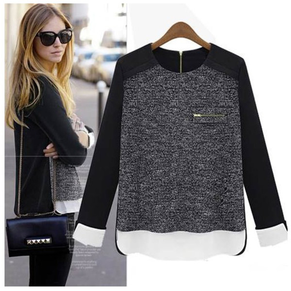 black sweater sweatshirt pullover fall sweater knitted sweater
