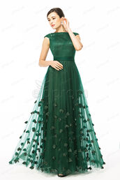 dress,mother of the bride dress,bridesmaid,mother of the groom dresses,wedding guest dress,prom dress,evening dress,formal dress,forest green,modest prom dresses,flowers,cap sleeves