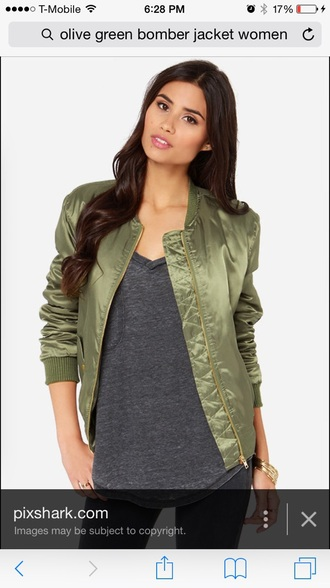 jacket olive green bomber jacket