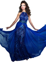 Mac Duggal 78759M - Spaghetti Strap Long Dress