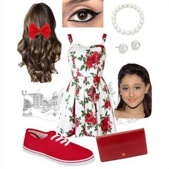 dress cute ariana grande tumblr red tumblr dress pretty