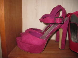 shoes platform heels platform shoes purple purple shoes pink pink shoes high heels chunky chunky sole