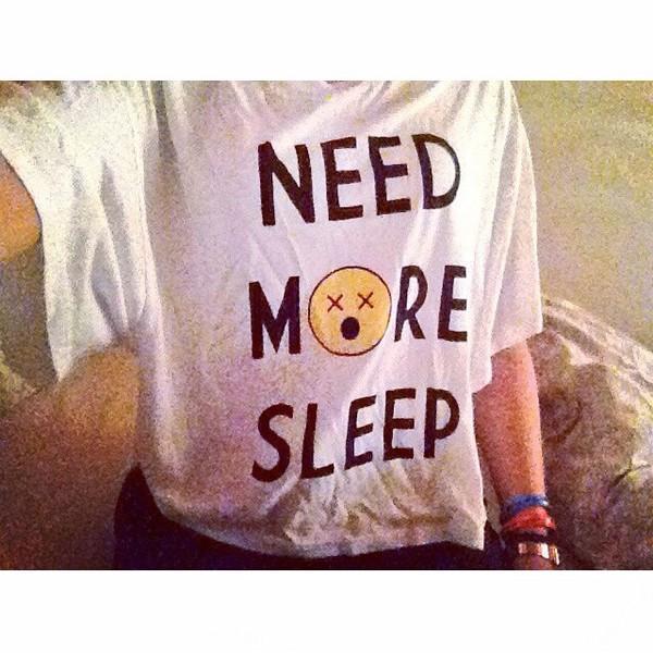 t-shirt more sleep t-shirt sweater
