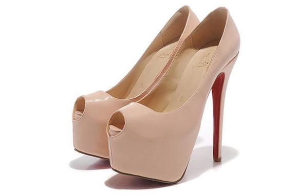 beige shoes open toes redbottoms