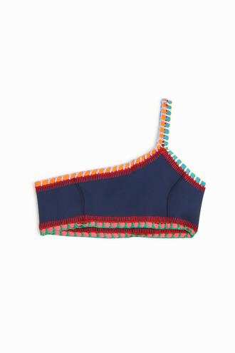 bikini bikini top navy swimwear