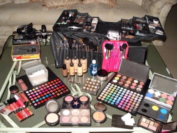nail nail polish make-up blogger bag
