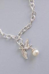 jewels,oak leaf & acorn charm,silver charm,bracelets,bracelet charms