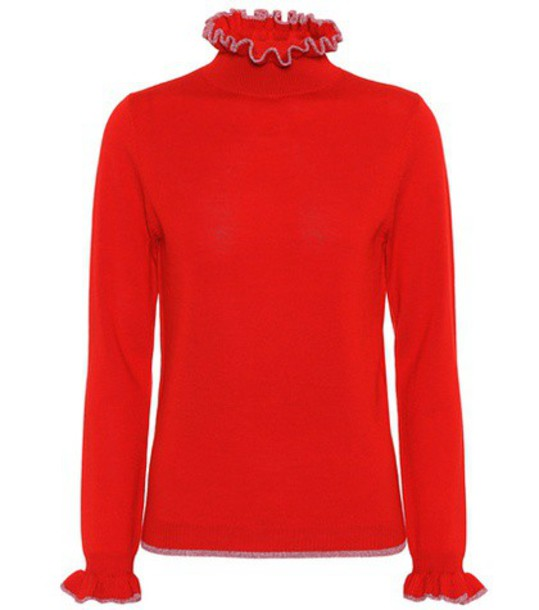 sweater wool sweater wool red