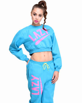 DJPremium.com - Women - Shop by Department - Sweatshirts - Swoosh Crop Sweatshirt