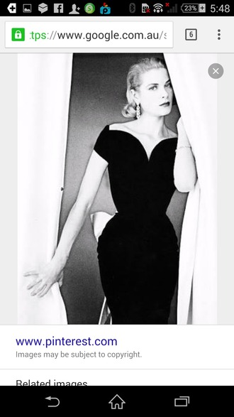 dress grace kelly black dress off the shoulder heart shaped neckline tight