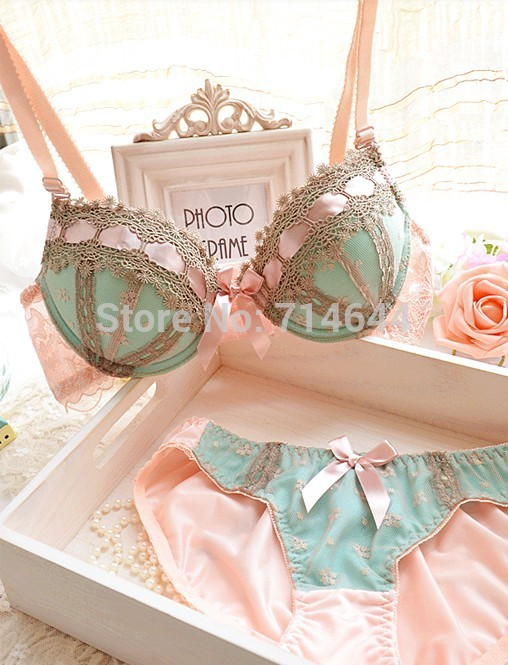 Aliexpress.com : Buy Bow Sweet 3 Breasted Fresh Color Adjustable Bra Set Push Up Young Girl Bra Underwear Set Woman Sexy Lace Bra Set Noble Bra Set from Reliable bra set suppliers on Disha.