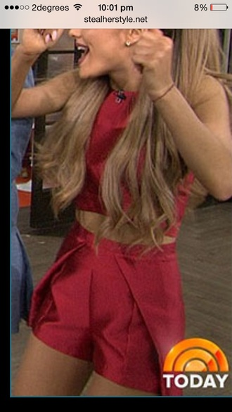 shorts ariana grande red shorts amazing fashion