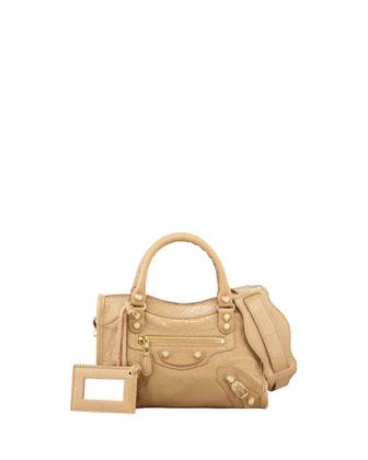 Balenciaga Mini Giant 12 Golden City Bag, Beige Nougat