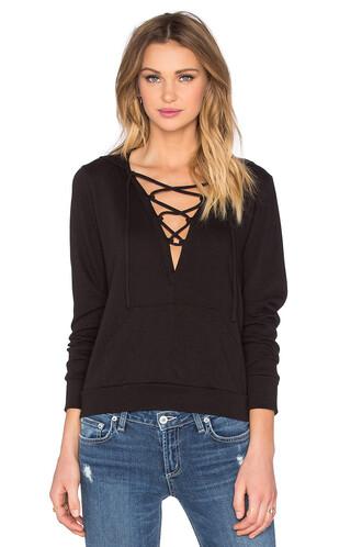 hoodie lace black