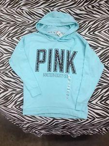 Victoria Secret Pink Boyfriend Pullover Sweatshirt Hoodie Leopard XSmall New | eBay