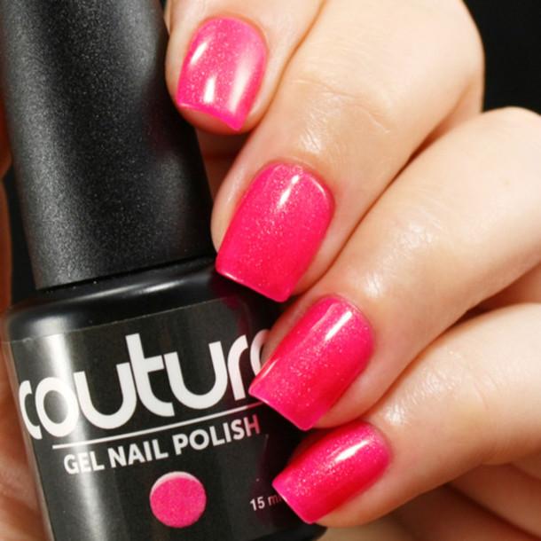 Hot Pink Gel Polish: Nail Polish, Hot Pink Nail Polish, Sparkly Gel Nail Polish