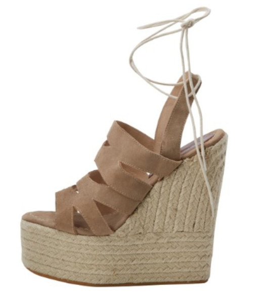 shoes platform summer wedges tan