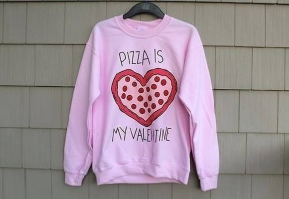 valentine valentines day sweater pizza swag swag girl