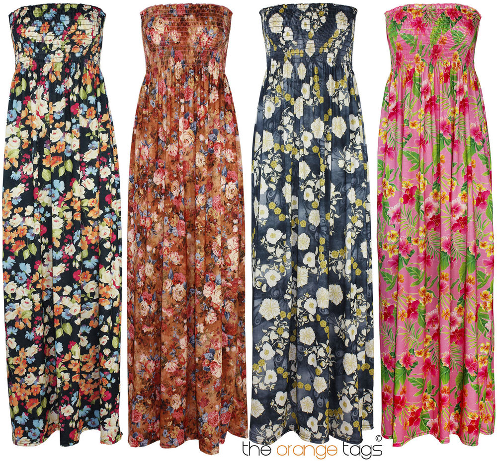 LADIES LONG MAXI DRESS WOMENS FLORAL PRINT SUMMER MAXI EVENING DRESS | eBay