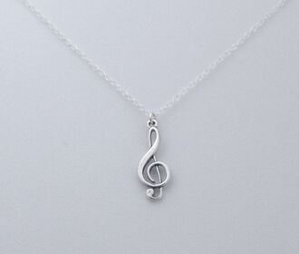 jewels music necklace treble clef sterling silver